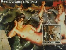Paintings of Paul Delvaux Tchad Chad s/s Michel Bl. 343A #TCH219