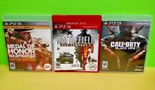 Medal of Honor Warfighter Call of Duty Black Ops Battlefield 2 Playstation 3 PS3