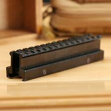 See Through Flat-Top Riser 14 Slots Rifle Base Scope Mount 20mm Picatinny Rail