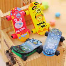 Creative Skateboard Shaped Rubber Pencil Eraser Funny Kids Educational Prize Toy