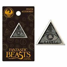 Harry Potter New * MACUSA Triangle Eye * Pewter Lapel Pin Fantastic Beasts Charm
