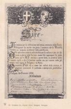 A6988) BOLOGNA, 8/1/1888, 8° CENTENARIO DELLO STUDIO BOLOGNESE, PERGAMENA AL RE.