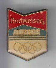 RARE PINS PIN'S .. ALCOOL BIERE BEER BIER BUDWEISER OLYMPIQUE OLYMPIC USA 88 ~DD