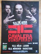 CAVALERA CONSPIRACY 2015 TOUR  -  orig.Concert-Konzert-Tour-Poster-Plakat DIN A1