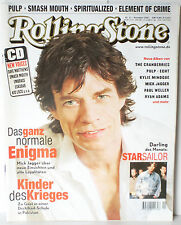 Rolling Stone Nr.11 November 2001 mit CD New Voices Mick Jagger Starsailor