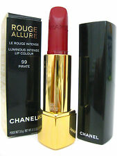 CHANEL Red LIPSTICK Rouge Allure Luminous Intense Lip Color - 99 PIRATE France