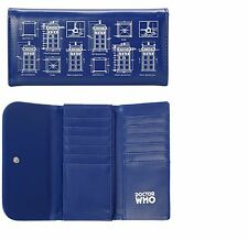 NEW DOCTOR WHO BBC TARDIS FLAP TRIFOLD WALLET SCHEMATIC BLUEPRINT DRAWING DR WHO