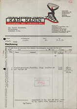 MÜHLBACH Bez. Chemnitz, Rechnung 1939, Spiralfedern-Fabrik Karl Kaden