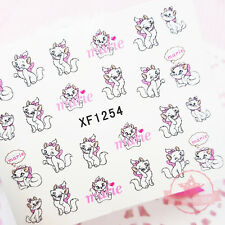 Princess Marie Cat fashion nail tattoo stickers water transfer decals