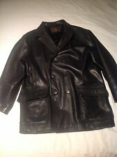 Avirex Officer's O'Coat Field Leather Jacket Large. Not Schott 740N Pea Coat