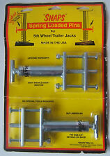 SNAPS Spring Loaded Pins for Fifth 5th Wheel Trailer Jacks Brand New Sealed
