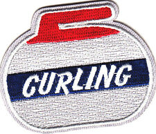 """CURLING"" -  IRON ON EMBROIDERED PATCH - GAME - SPORT - COMPETITION"