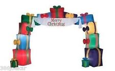 Gemmy Christmas Airblown Inflatable Archway Gifts with banner - 16FT Wide - NEW
