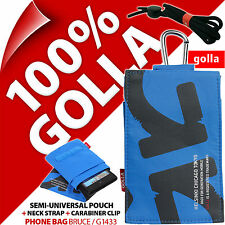 Golla Blu Cellulare Custodia Borsa Per iPhone 4s 5s Samsung Galaxy se s2, s4 MINI