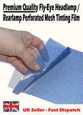 1 x A4 Sheet Blue Headlight Tinting Perforated Mesh Film Fly-Eye MOT Legal Tint