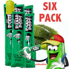BOB'S PICKLE POPS DILL PICKEL JUICE ICE POPSICLES  6 CT