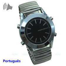 Portuguese Talking Watch for Blind or Visually Impaired with Alarm Low Vision