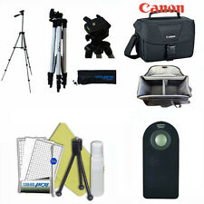 "50"" PRO TRIPOD + CANON ES100 CASE + REMOTE  FOR CANON EOS REBEL DSLR CAMERAS"