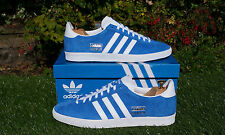 BNWB & Genuine adidas originals Gazelle OG Air Force Blue Suede trainers UK 10