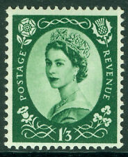 Sg530, 1s 3d green, UNMOUNTED MINT. WMK TUDOR CROWN.