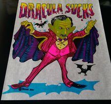 Vintage  Rare DRACULA SUCKS  Iron-On Transfer by Roach Classic