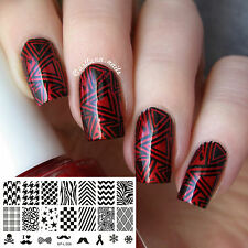 Ongle Nail Art Stamping plaque Template Image Plate BORN PRETTY L006 12.5 x6.5cm