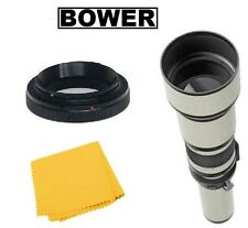 Bower 650-1300mm Telephoto Lens for Canon EOS 80D 70D T7i T6i T6s T6 T5i T5 SL1