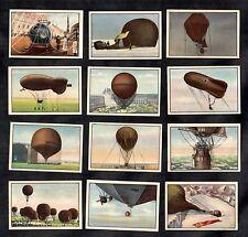 Hot Air Balloons & Airships Garbaty German 12 Card Set 1932 Flying Aviation
