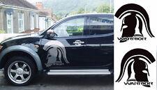 Mitsubishi L200 Spartan diseño de cabeza de Guerrero, Trojan Animal En Cualquier Color 1 Par