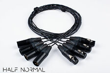 4 Channel Snake Cable 4' Foot Mogami 2931 Neutrik Gold XLR Male to XLR Female