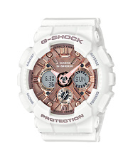NEW G-SHOCK S Series White/Rose Resin Band GMAS120MF-7A2 Priority Ship