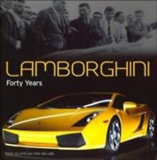 Lamborghini Forty Years Race Sports Nascar Car Turin Jolliffe Willard HB Book