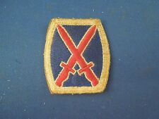 Vintage Army 10th Infantry Division Crossed Bayonets Sew On Patch