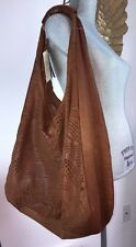 Rl22 errelleventidue Extra Large Cognac Cutouts Italian Brown Leather Bag