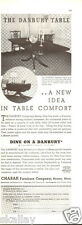 1937 Print Ad of Charak Funiture Co Danbury Pedestal Table