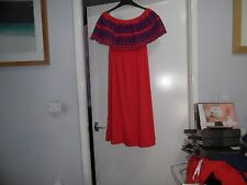 Lovely ASOS Off Shoulder Midi Sundress with Broderie Frill Size 14 £35.00