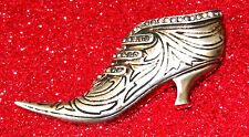 VINTAGE STERLING - RHINESTONE 18th c. SLIPPER FUR CLIP BY NETTIE ROSENSTEIN