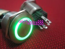 1 x 25mm Green Led 12V Stainless Switch Momentary Push Button 6 Pins Waterproof