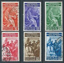 1935 VATICANO USATO CONGRESSO GIURIDICO 6 VALORI - X1