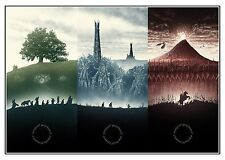 LORD OF THE RINGS - Middle Earth  Movie Wall Art Large Canvas Picture 20x30""