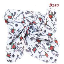 Romantic rose love necklace bowknot butt scarf neck square Kerchief Bandana