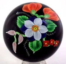 Fascinating ORIENT and FLUME Elegant FLOWER BOUQUET Art Glass PAPERWEIGHT