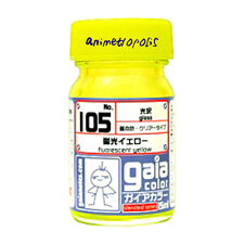GAIA COLOR 105 Fluorescent Yellow GUNDAM MODEL KIT LACQUER  PAINT 15ml NEW