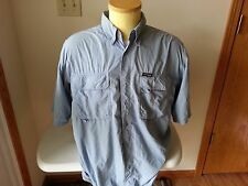 Columbia GRT light blue short sleeve button down - mens large