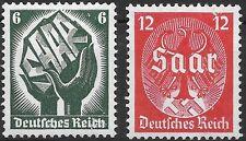 Germany Third Reich  Mi# 544-545 MH Saar Piebiscite 1934 *