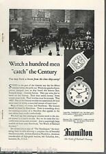 1930 HAMILTON WATCH advertisement, Grand Central Terminal photo New York Central