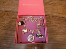 BUTLER & WILSON LONDON  NECKLACE DOUBLE DECKER BUS POST BOX GUARD CROWN TAXI