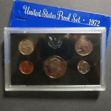 "*1972S  KENNEDY HALF  5-COIN ""PROOF"" SET, San Francisco Mint in Display Case #D"