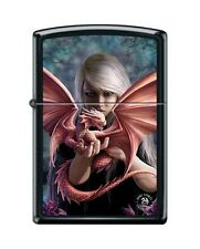 Zippo 7426 Anne Stokes Dragon & Woman Black Matte Full Size Lighter