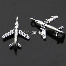 20 x Tibet Silver Pendant Charm Beads accessories aircraft model  PL095